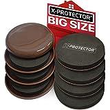 Möbelgleiter x-protector-Beste 8er Pack 43/10,2cm Teppich Möbel Movers & schwere Filz Gleitern. Wiederverwendbar Moving Möbel Pads für alle Oberflächen-Teppichböden, Hartholz, Linoleum, etc..