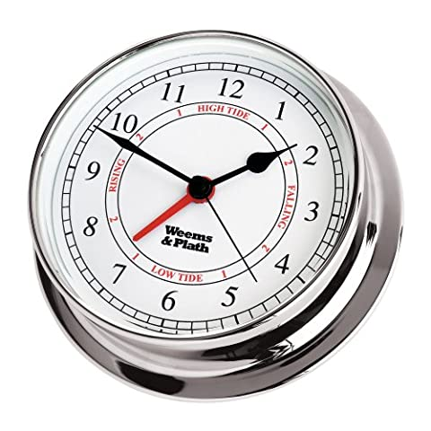 Weems & Plath Endurance 125 Chrome Nautical Tide and Time Clock by Weems & Plath