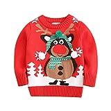NUSGEAR Bambino Unisex Maglioni Natale Maglione Maniche Lunghe Sweater Caldi Spessi Natale Stampa Pullover Felpa Regalo per Bambini