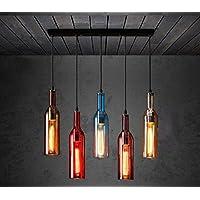 Fesselnd Wcui Farbe Flasche Glas Kronleuchter Restaurant Thema Bar Bar  Persönlichkeit Kreative Lampen Und Laternen Cafe 5