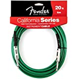 Fender California 20-feet Instrument Cable, Surf Green