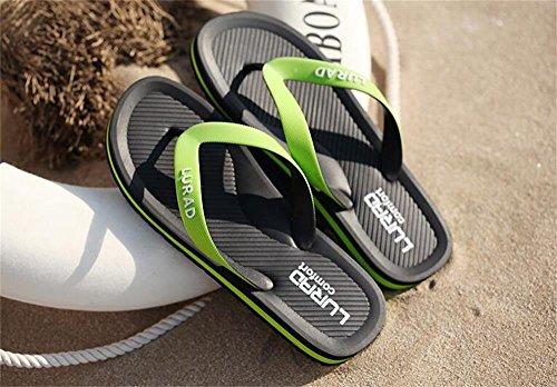 ALUK- Sommer Sandalen - Herren Hausschuhe Hausschuhe mit Europa und die Vereinigten Staaten Trend der Strand Schuhe ( Farbe : Schwarz , größe : 44 ) Schwarz