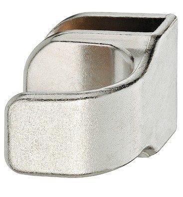 gedotec® Porte en verre Poignée de meuble nickelé pour Portes en verre Zinc moulé Poignée de porte-Épaisseur de verre 4-6mm-Mat-Fabriqué en