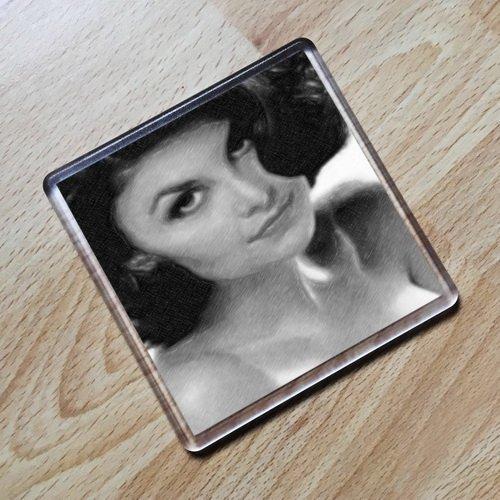 SHERILYN FENN - Original Art Coaster #js001 Twin Hearts Wild