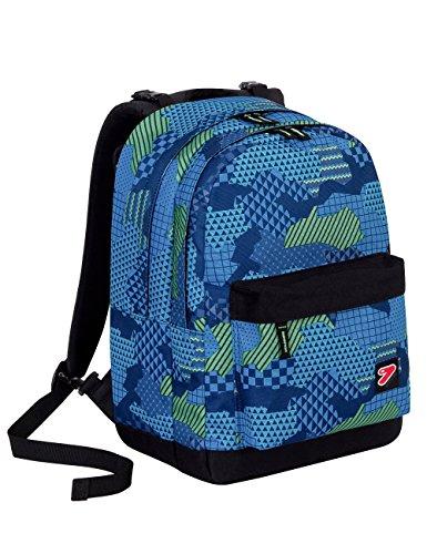 Zaino seven - the double pro xxl - blu - verde - 30 lt schienale compatibile con cover e reversibile