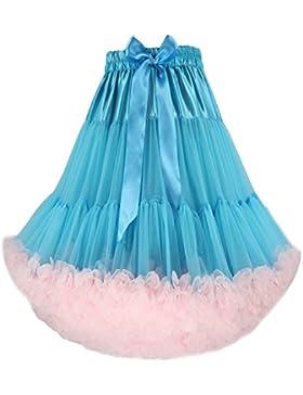 FOLOF Adulto de lujo suave enagua del traje del tutú de las mujeres Danza de ballet de múltiples capas falda hinchada