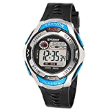 QBD Kids Sport Watch 164 Feet Waterproof LED Digital Watch for Boys Blue