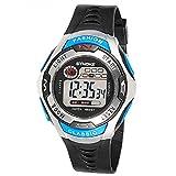 QBD Kids Sport Watch 164 Feet Waterproof LED Digital Watch for Boys Blue