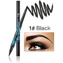 Ladygo - Lápiz de cejas automático con delineador de ojos de larga duración 2 en 1, artículo de maquillaje resistente al agua