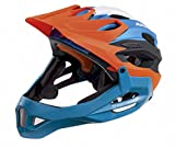 Alpina Radhelm King Carapax, Orange-Blue, Gr. 52-57