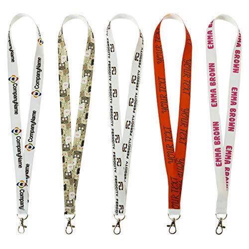 Personalisierter Schlüsselband mit Ihrem Wunschtext/Grafik Lanyard mit Ihrem eigenen Schriftzug Schlüsselband mit Druck nach Wunsch [098]