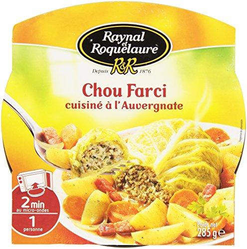 Raynal & Roquelaure Farci Cuisiné À L'auvergnate la Barquette Micro-Ondable 285g - Lot de 4