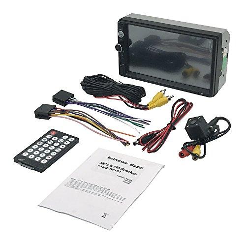 KKmoon 7 inch Universel 2 Din HD Voiture Autoradio Lecteur BT DVD USB/TF /FM / MP5 Aux in avec HD Camera de recul ecran Tactile