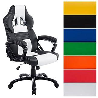 CLP silla de ofinca Gaming Racing PEDRO XL, regulable en altura 46 – 56 cm, carga máxima 180 kg, tapizado de alta calidad