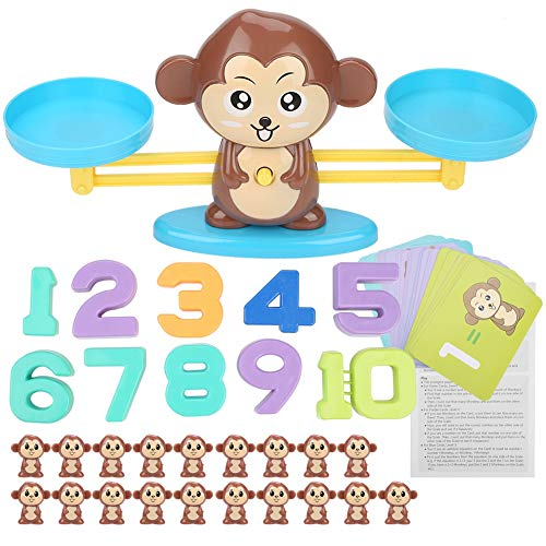 Balance Number Counting Game Spielzeug Monkey Children Educational(Braun) -