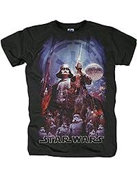 original STAR WARS Herren Männer T-Shirt THE EMPIRE schwarz GR. S-XL BRAV