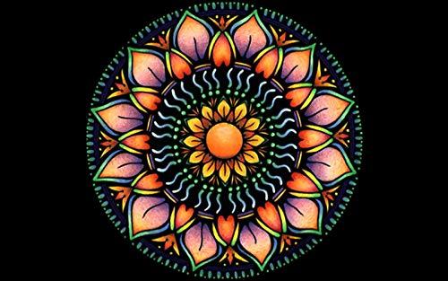 Puzzle 1000 Piezas Para Adultos De Madera Niño Rompecabezas-Mandala De Loto-Juego Casual De Arte Diy Juguetes Regalo Interesantes Amigo Familiar Adecuado