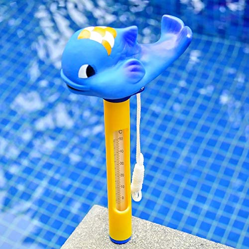 DyNamic Carton Tier Baby Bad Schwimmbad Spa Floating Tub Thermometer Wassertemperatur Meter - Blue Whale -