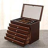 Unbekannt Hochwertige Holz Schmuck Aufbewahrungsbox, Schmuckschatulle, Schublade Schmuckschatulle, Europäischen Schmuck Ring Ohrringe Schmuck Aufbewahrungsbox,5