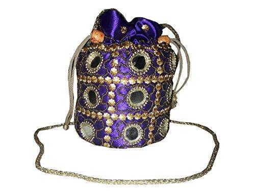 Fashion Bizz Ethnic Designer Rajasthani Potli Bag, Clutch, Make up Bag ,...