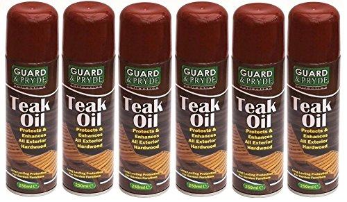 6x Teak Öl Außen Hartholz/Nadelholz Garten Möbel Spray kann Flasche NEU