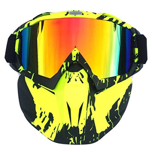 Mecotech Gesichtsmaske, Taktische Maske Bunt Gesichtsmaske Paintball Maske Schutzmaske für Nerf (Bunt-1) -