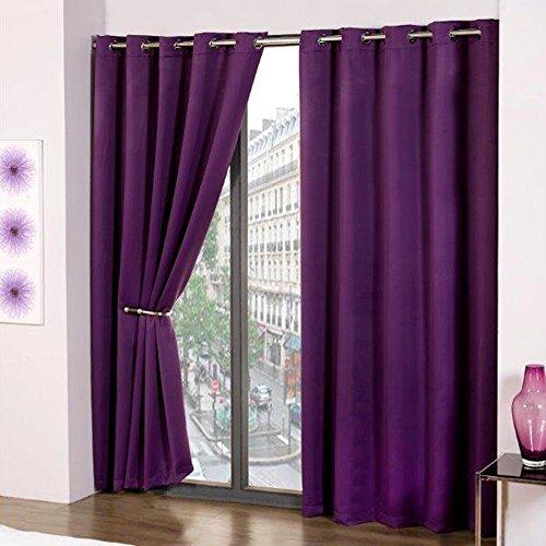 Purple Curtains: Purple Curtain: Amazon.co.uk