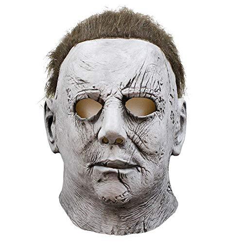 Großes Kostüm Clown Herz - HHSJL Halloween Maske Mcmillan Maske Kopfbedeckung Cosplay Film Mondlicht Herz Panik Terrorist Latex Maske, Bloody Party/Kostüm Party/Karneval Kostüm Requisiten Maske