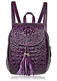 PIFUREN Women Backpack Leather Mini Fashion Backpack for Ladies Casual Daypack (66810 violet)