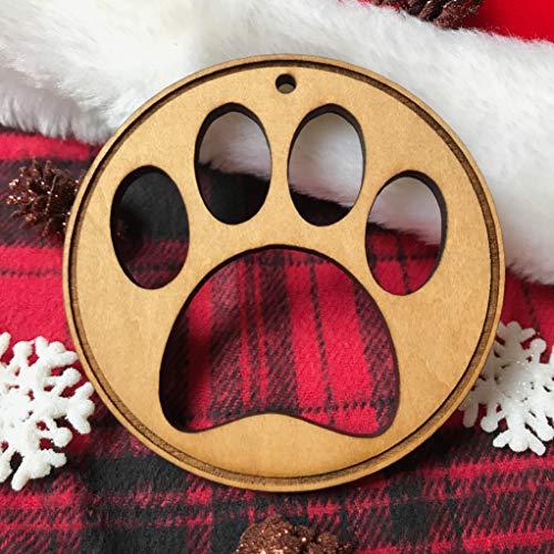 qidushop Dog Christmas Ornament Paw Print Ornament Pet Gift Dog Mom Pet Theme Christmas Tree Pet Ornament Dog Christmas Custom Ornament Dog