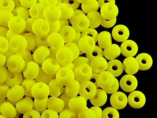 50pcs-tschechische-glasperlen-gepresst-estrela-neon-uv-aktiv-bagel-55-mm-gelb