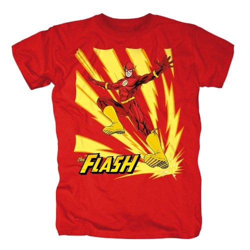 Justice League - T shirt di Flash - Maglia con stampa - Stampa a colori - Girocollo - S