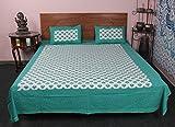 Impresionante 100% algodón cometa impreso indio cama, 3pc cama cubierta