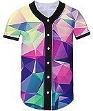 Loveternal Unisex Baseball Jersey Personalizado Cool Jugador de Béisbol Softball con Cuello en V Hip-Hop Hipster Camiseta XL