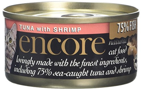 Encore Cat Food Tin Tuna and Shrimp, 70g, Pack of 18