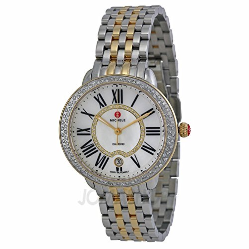 Michele serein Mère de Pearl bicolore femme Watch mww21b000032