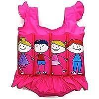 Traje de baño con flotador para niños, flotabilidad ajustable, Pink Kids