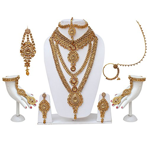 Lucky Jewellery Traditional LCT Golden Color Alloy Bridal Set For Women And...