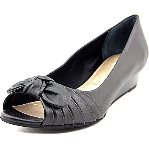 Giani Bernini Singa Synthétique Talons Compensés Black.