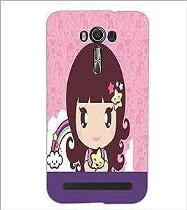 PrintDhaba Cartoon D-5047 Back Case Cover for ASUS ZENFONE 2 LASER ZE550KL (Multi-Coloured)