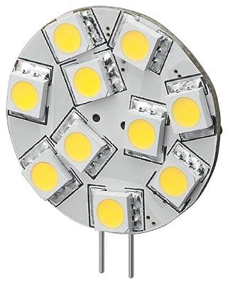 Goobay 30334 LED-Chip für G4 Lampensockel mit 10 SMD LEDs Leuchtfarbe warmweiß LED G4S warmweiß von Mundo del Arte auf Lampenhans.de