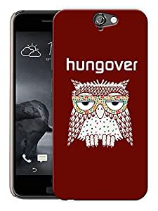 """Humor Gang Hungover Owl Printed Designer Mobile Back Cover For """"HTC ONE A9"""" (3D, Matte Finish, Premium Quality, Protective Snap On Slim Hard Phone Case, Multi Color)"""