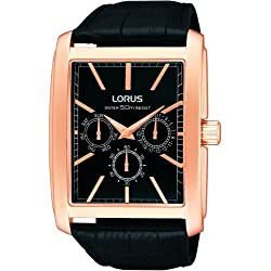 LORUS GENTS MULTI DIAL STRAP WATCH