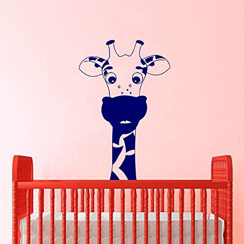 Geiqianjiumai Giraffe Tier Wandaufkleber niedlichen Abziehbilder Vinyl Aufkleber Cartoon Schlafzimmer Dekoration Wandbilder Kindergarten Wandaufkleber Kinderzimmer 63X96CM