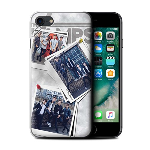 Offiziell The Vamps Hülle / Case für Apple iPhone 7 / Rot Stift Muster / The Vamps Doodle Buch Kollektion Collage