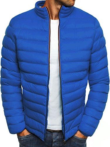 OZONEE Herren Mix Winterjacke Steppjacke Sweatjacke Wärmejacke Jacke Parka Zip Modern Täglichen Gesteppt 777/346K BLAU XL
