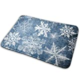 Door Mat Non Slip Indoor Snowflake Shower Mat15.7