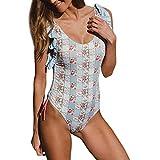 ZARLLE Trajes De BañO Mujer Una Pieza Bikinis Atractivo De Mujeres De BañO Push Up Sujetador Acolchado Estampado De Flores Y Traje De BañO Ropa De Playa