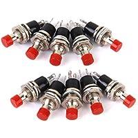 10 X Mini-interruptor De Boton Momentaneo Para La Aficion Modelo Ferroviario Rojo