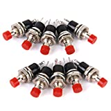 Almencla 10 X Mini Momentary Push Button Switch Für Modelleisenbahn Hobby Rot